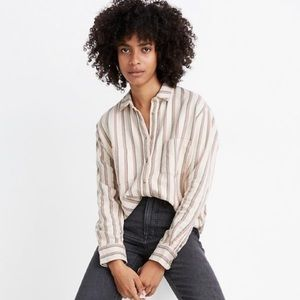 📌Madewell Flannel Sunday in Claxton Stripe Shirt